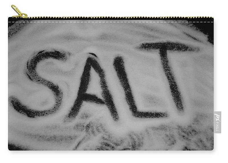 Black And White Carry-all Pouch featuring the photograph Salt by Rob Hans