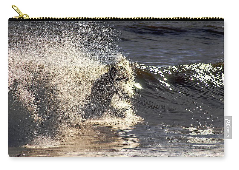 Clay Carry-all Pouch featuring the photograph Salt Spray Surfing by Clayton Bruster