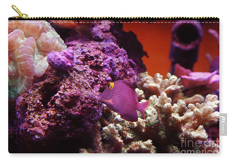 Clay Carry-all Pouch featuring the photograph Salt Water Aquarium by Clayton Bruster