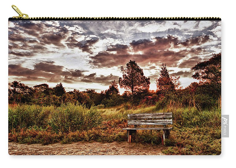 Carry-all Pouch featuring the photograph Saltmarsh Set A Spell by Garrett Sheehan