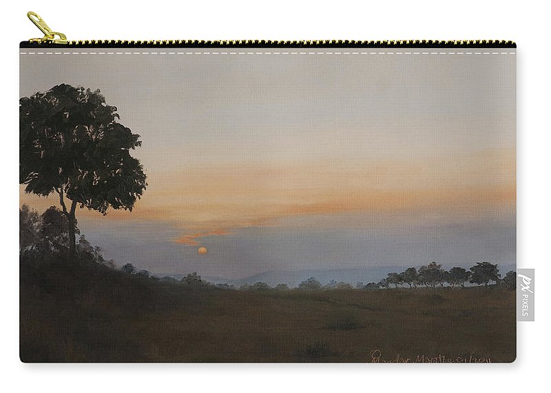 Dawn Carry-all Pouch featuring the painting Salutation To The Dawn by Mandar Marathe