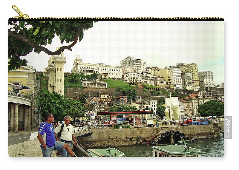 Urban Carry-all Pouch featuring the photograph Salvador's Old Port At Noon by Idan Badishi