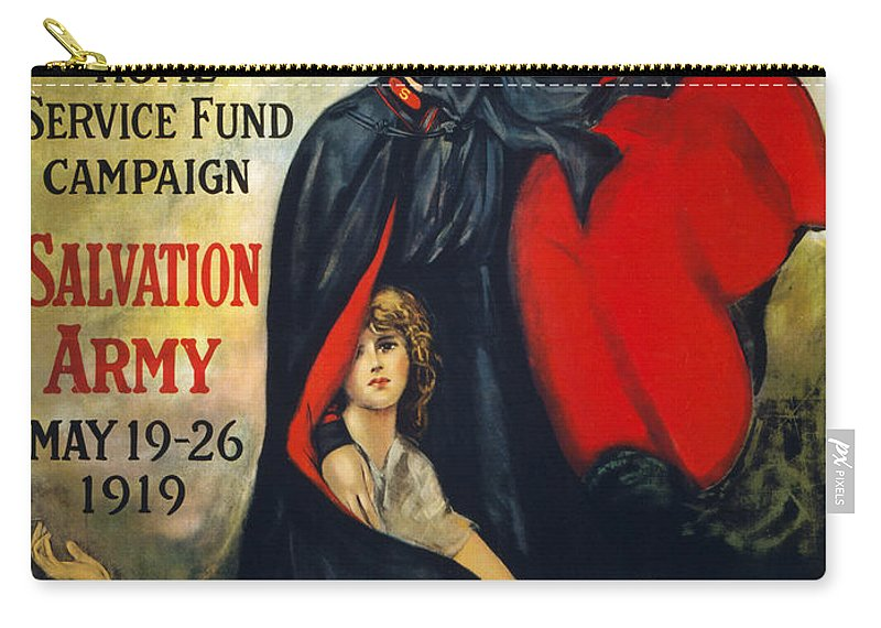 1919 Carry-all Pouch featuring the photograph Salvation Army Poster, 1919 by Granger