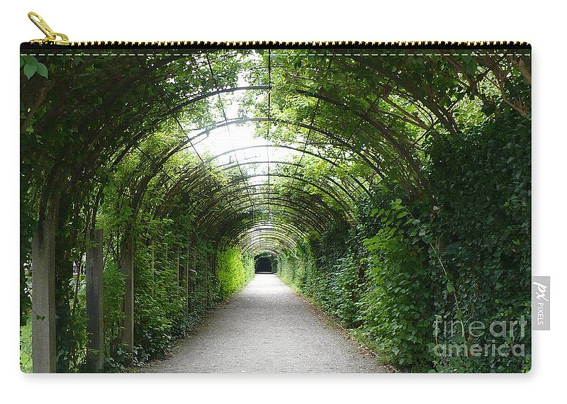 Europe Carry-all Pouch featuring the photograph Salzburg Garden Arbor by Carol Groenen