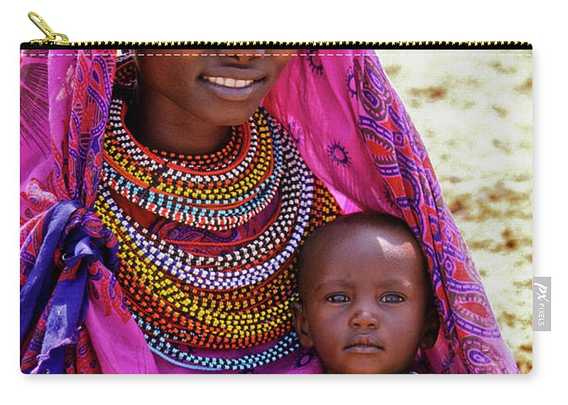 Africa Carry-all Pouch featuring the photograph Samburu Madonna by Michele Burgess