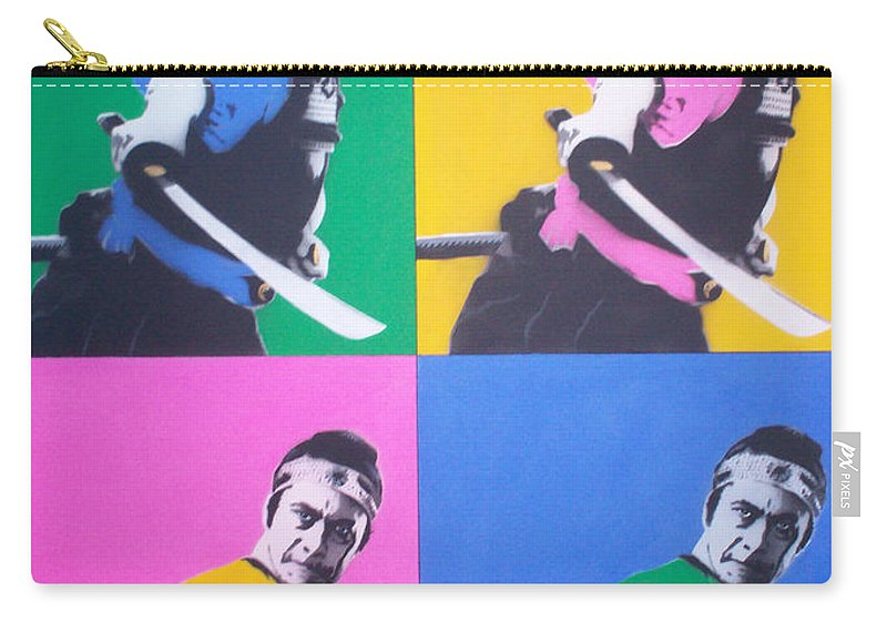 Samurai Carry-all Pouch featuring the painting Samurai X 4 by Gary Hogben