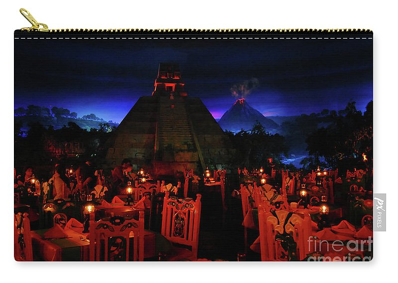 Fine Art Photography Carry-all Pouch featuring the photograph San Angel Inn Mexico by David Lee Thompson