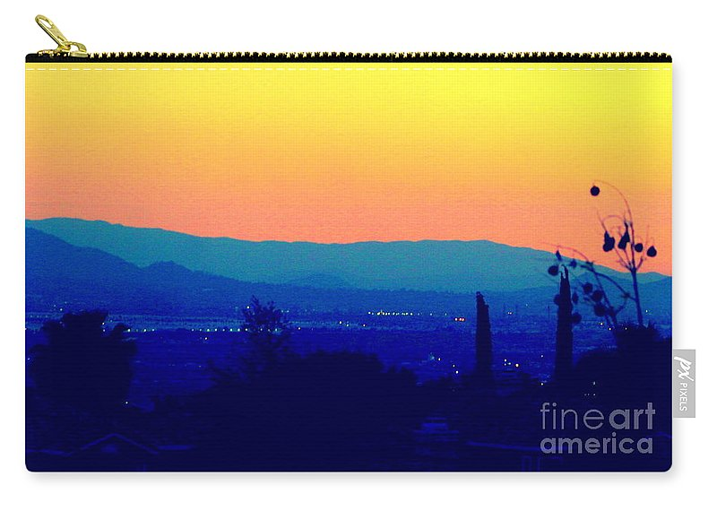 Sunset Carry-all Pouch featuring the photograph San Bernardino California Sunset Silhouette by Michael Hoard
