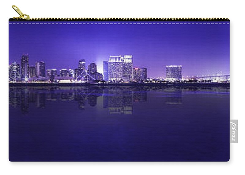 San Diego Carry-all Pouch featuring the photograph San Diego Cityscape by Billy Bateman