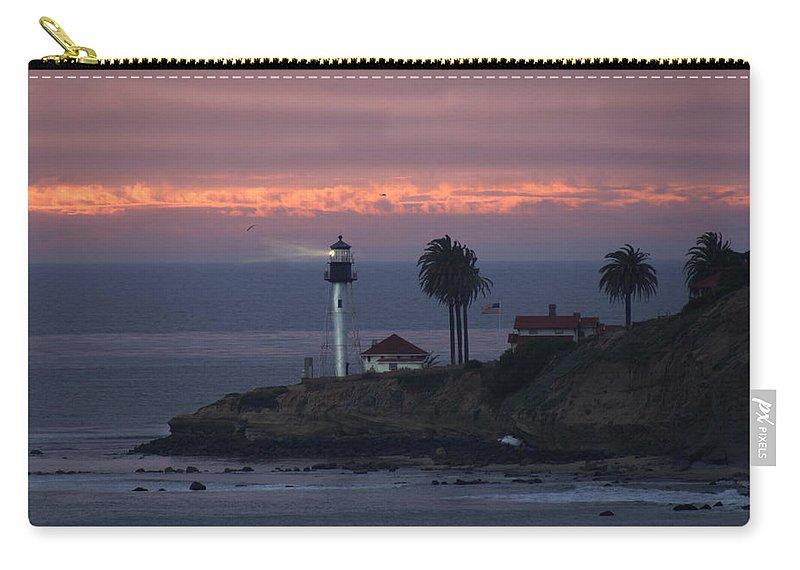 San Deigo Carry-all Pouch featuring the photograph San Diego Lighthouse by Heather Coen