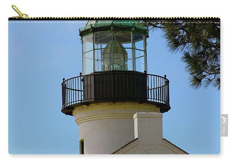 Lighthouse Carry-all Pouch featuring the photograph San Diego Skies by Laddie Halupa