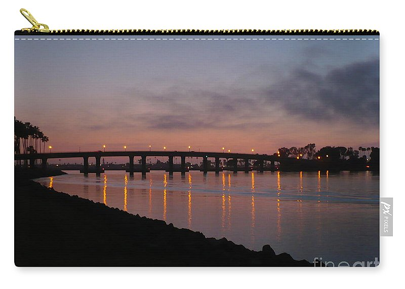 San Diego Carry-all Pouch featuring the photograph San Diego Sunset 1 by Carol Groenen
