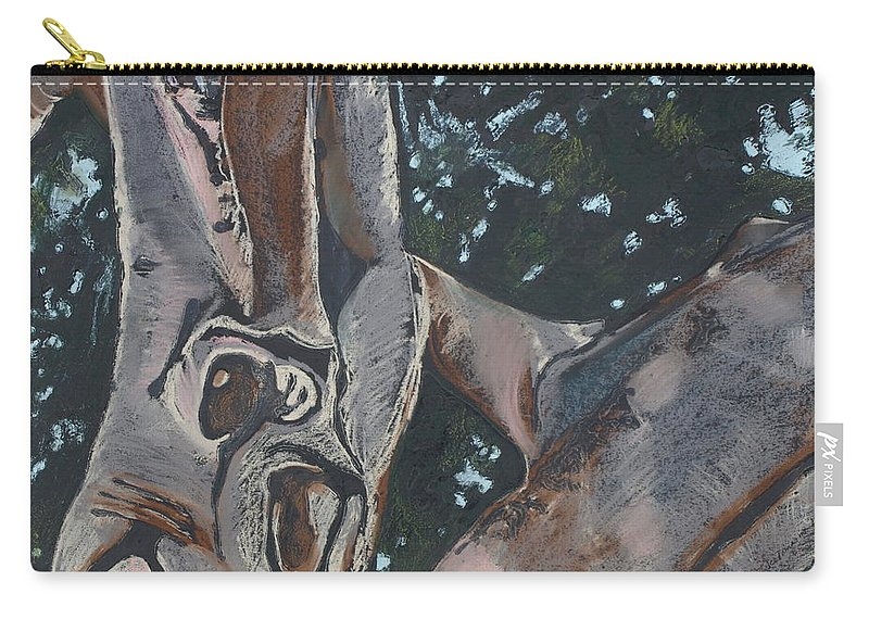 Contemporary Tree Carry-all Pouch featuring the drawing San Diego Zoo by Leah Tomaino
