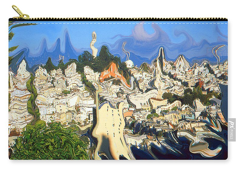 San+francisco Carry-all Pouch featuring the painting San Francisco 1906 - Modern Art by Peter Potter