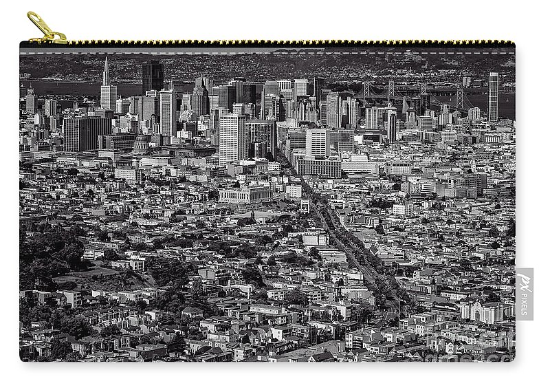 San Francisco Carry-all Pouch featuring the photograph San Francisco From Twin Peaks by Doug Sturgess