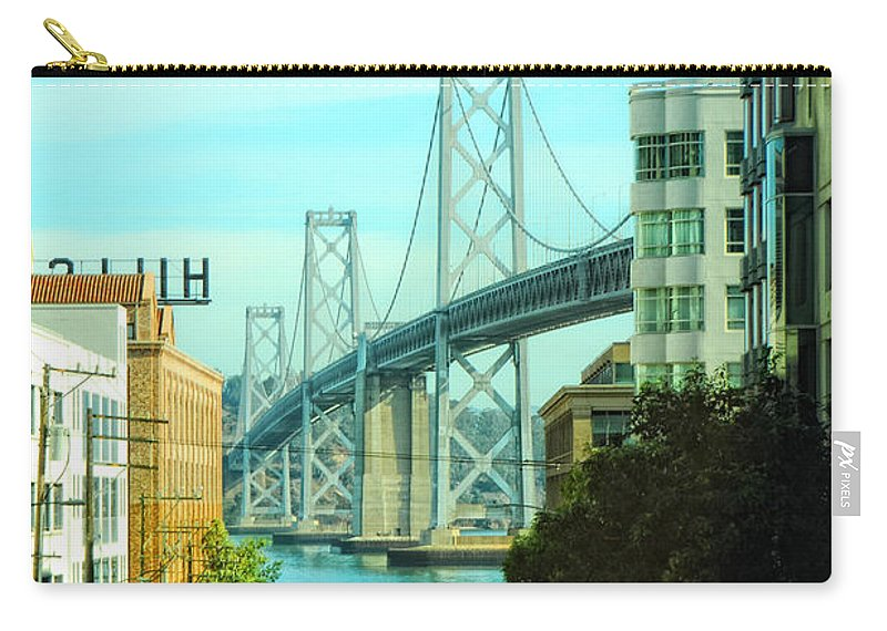 San Francisco Carry-all Pouch featuring the photograph San Francisco Street by Donna Blackhall
