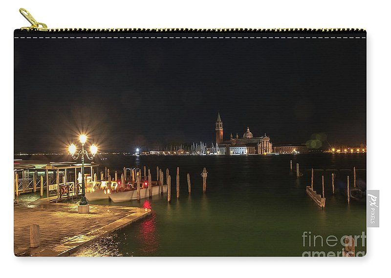 San Giorgio Maggiori At Night By Marina Usmanskaya Carry-all Pouch featuring the photograph San Giorgio Maggiori At Night by Marina Usmanskaya