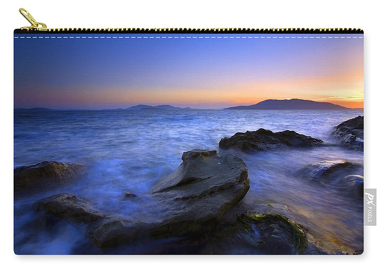Sunset Carry-all Pouch featuring the photograph San Juan Sunset by Mike Dawson