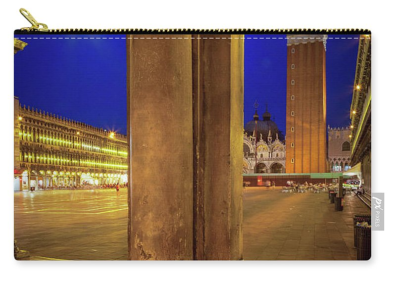 Europe Carry-all Pouch featuring the photograph San Marco At Night by Inge Johnsson