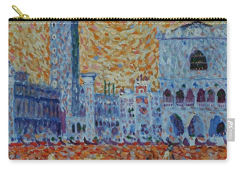 San Marco Carry-all Pouch featuring the painting San Marco by John A B Lansdown