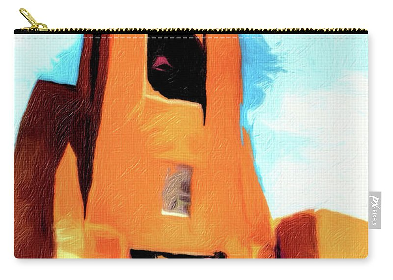 Church Carry-all Pouch featuring the photograph San Miguel Santa Fe by Terry Fiala