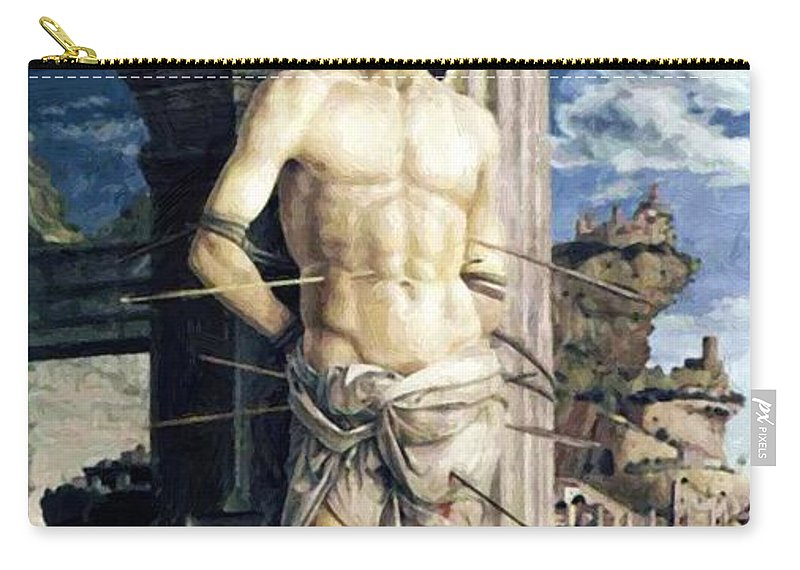 San Carry-all Pouch featuring the painting San Sebastian 1480 by Mantegna Andrea