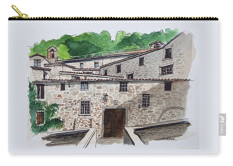 Tuscany Carry-all Pouch featuring the painting Sanctuary Of St. Francis by John Crowther