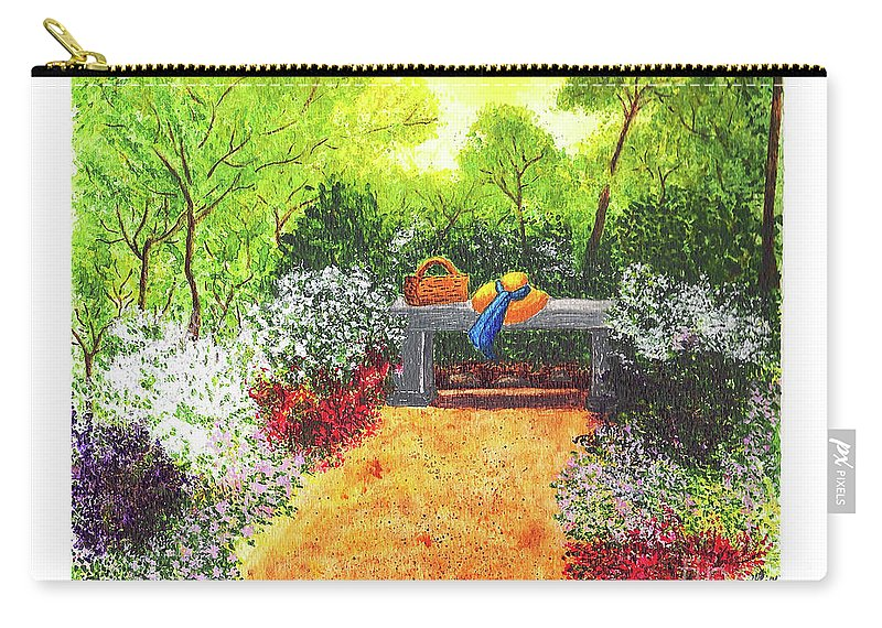 Garden Painting Carry-all Pouch featuring the painting Sanctuary by Patricia Griffin Brett