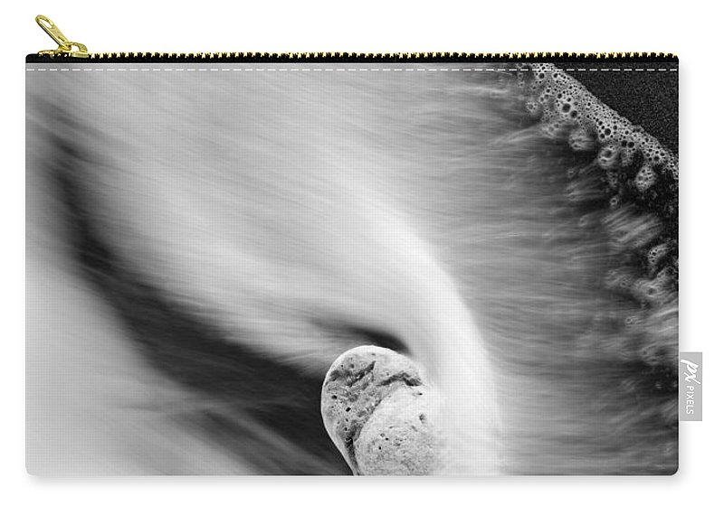 Rock Carry-all Pouch featuring the photograph Sand And Sea by Mike Dawson