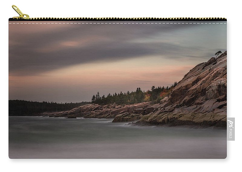 Maine Carry-all Pouch featuring the photograph Sand Beach, Acadia by Linda Cullivan