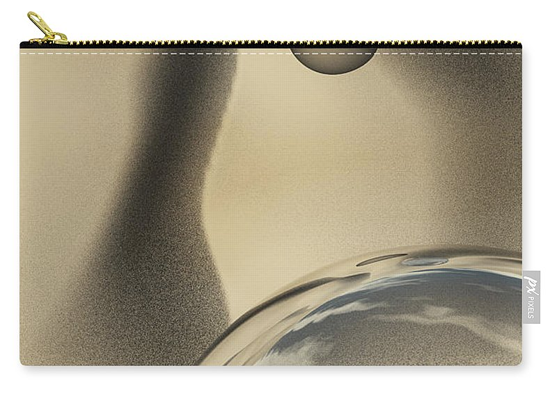 Contemporary Carry-all Pouch featuring the digital art Sand Bubbles by Richard Rizzo