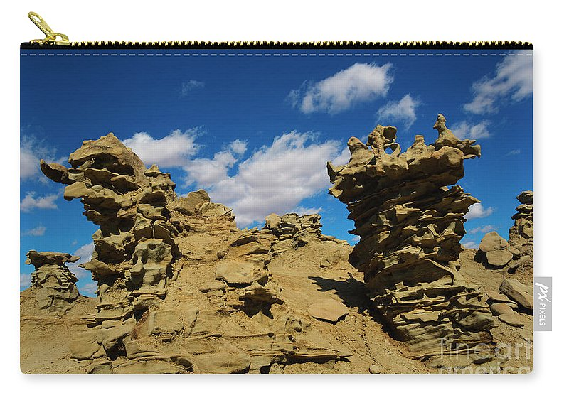 Siltstone Carry-all Pouch featuring the photograph Sand Demons by Mike Dawson