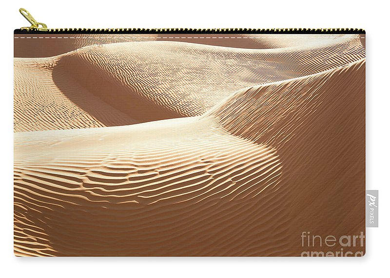 Desert Carry-all Pouch featuring the photograph Sand Dunes 3 by Delphimages Photo Creations