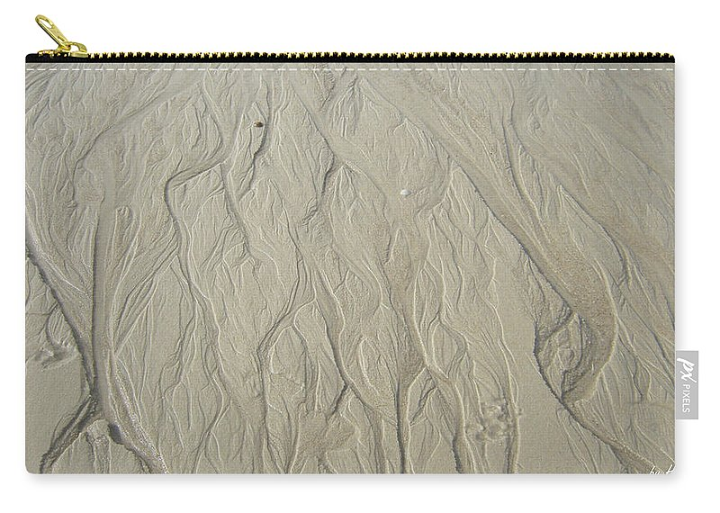 Sand Fire Carry-all Pouch featuring the photograph Sand Fire 3 by Heidi Sieber