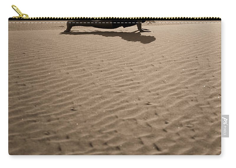 Yoga Carry-all Pouch featuring the photograph Sand Plank by Scott Sawyer