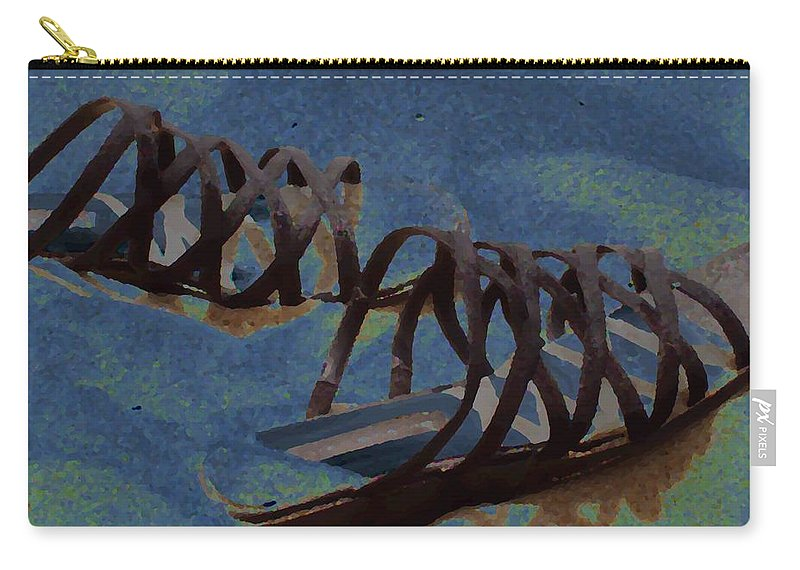 Shoes Carry-all Pouch featuring the photograph Sand Shoes II by Deborah Crew-Johnson