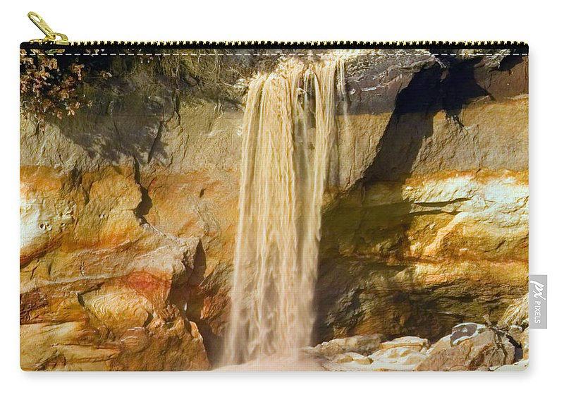 Sandfall Carry-all Pouch featuring the photograph Sandfall by Randall Ingalls