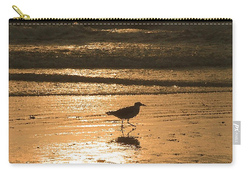 Nature Carry-all Pouch featuring the photograph Sandpiper by Peg Urban
