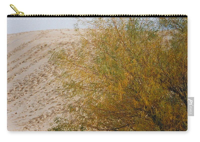 Sands Monohans Bush Trees Footprints Carry-all Pouch featuring the photograph Sands Of Monahans - 2 by Cindy New