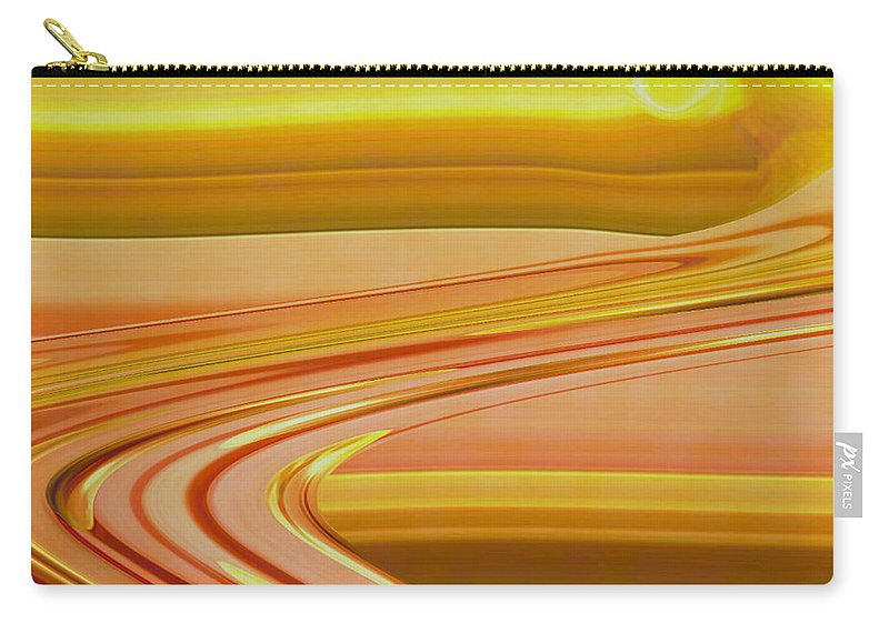 Sunset Art Carry-all Pouch featuring the digital art Sands of Time by Linda Sannuti