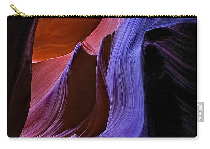 Sandstone Carry-all Pouch featuring the photograph Sandstone Cascade by Mike Dawson