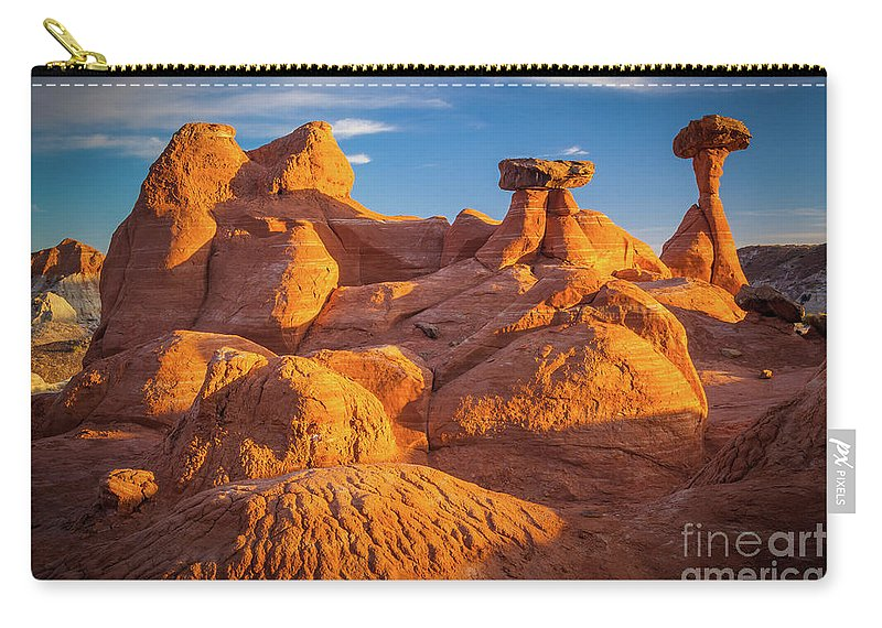 America Carry-all Pouch featuring the photograph Sandstone Castle by Inge Johnsson