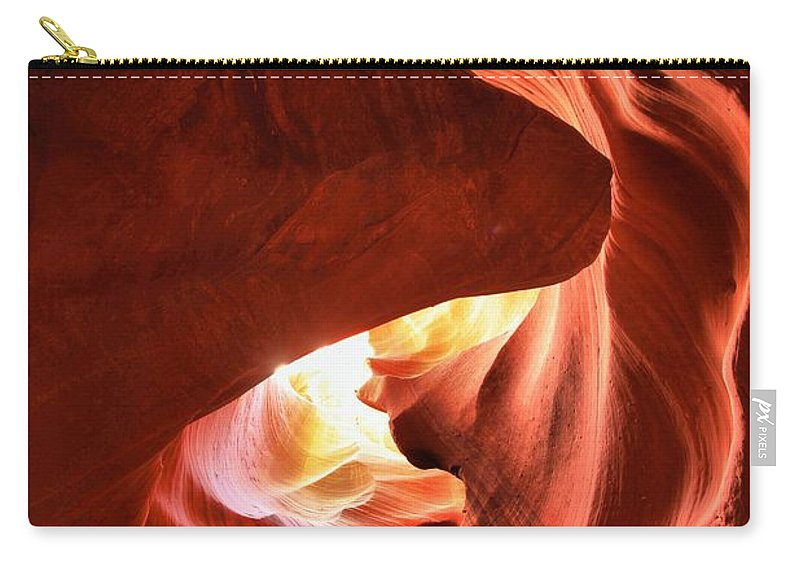 Head Of The Dog Carry-all Pouch featuring the photograph Sandstone Dog Abstract by Adam Jewell