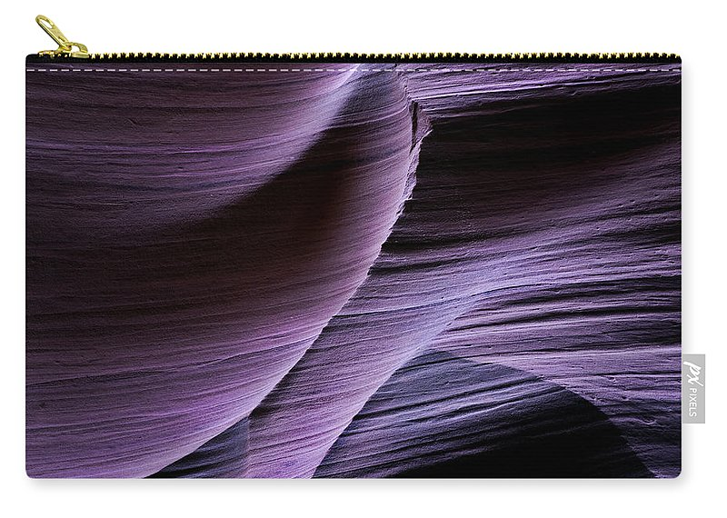Slot Carry-all Pouch featuring the photograph Sandstone Symphony by Mike Dawson