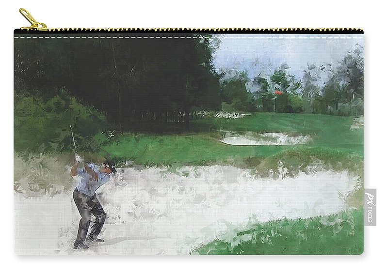 Golf Carry-all Pouch featuring the photograph Cross Your Fingers by Russell Owens