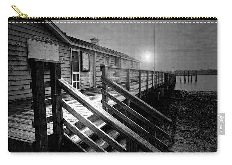 Darien Connecticut Carry-all Pouch featuring the photograph Sandy Feet Snack Shack by Diana Angstadt