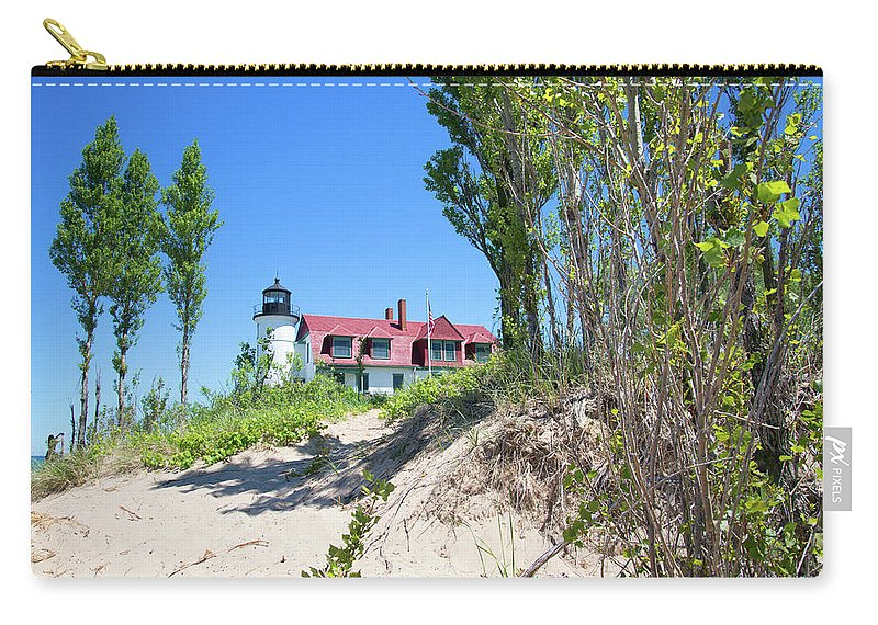 Point Betsie Carry-all Pouch featuring the photograph Sandyy by Linda Kerkau