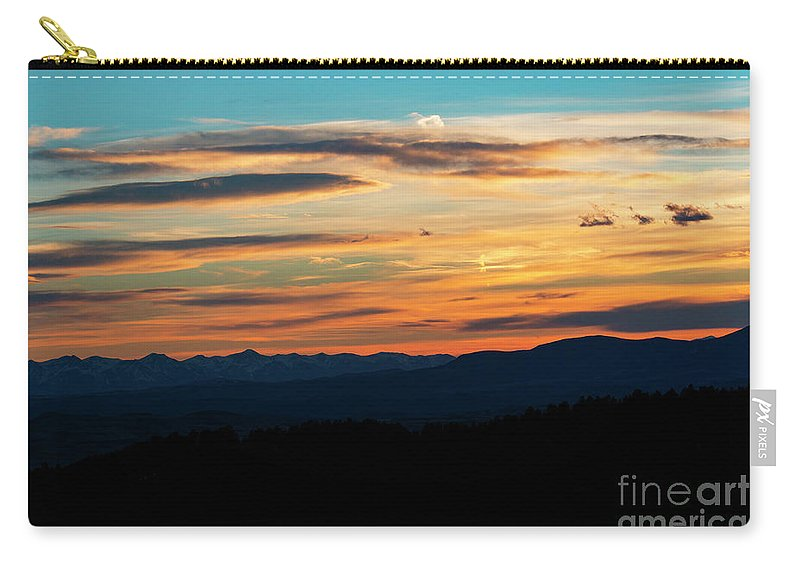 Sunset Carry-all Pouch featuring the photograph Sangre De Cristo Mountain Sunst by Steve Krull