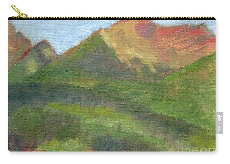 Colorado Carry-all Pouch featuring the painting Sangres II by Lilibeth Andre