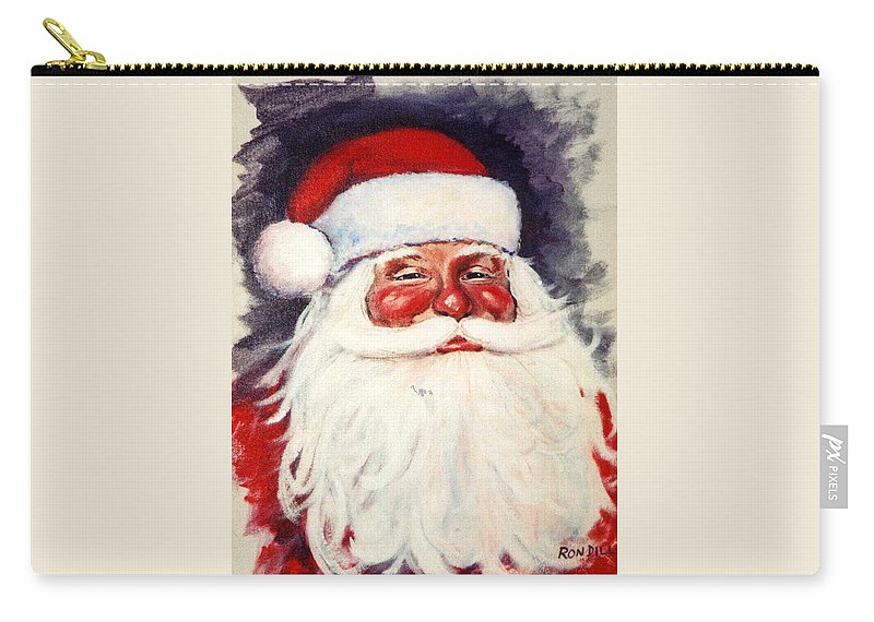 Portrait Carry-all Pouch featuring the painting Santa 1 by Ronald Dill